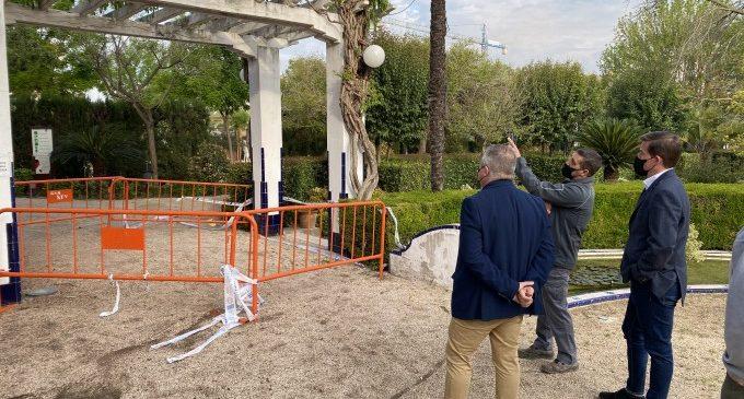 Xàtiva reparará una pérgola de los Jardines del Palasiet afectada por aluminosis
