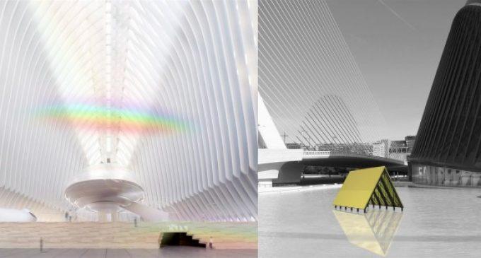 """Un arcoíris de interior y un """"templo agrícola"""" sobre el agua, primeras obras del CaixaForum València"""