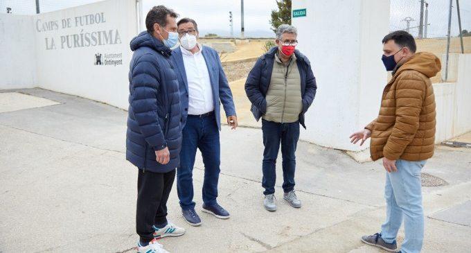Ontinyent millora la canalització d'aigües als camps de futbol de la Puríssima