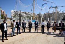 Ximo Puig visita les obres del centre soci sanitari Roís de Corella de Gandia