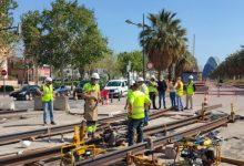 Ferrocarrils de la Generalitat instal·la de nou el carril de la Línia 10 de Metrovalencia que va ser retirat en 2015
