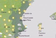 El dissabte arranca amb cels nuvolosos en el terç sud de la Comunitat Valenciana, amb possibles precipitacions febles