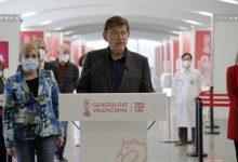 Ximo Puig anuncia que el dilluns començarà una nova etapa amb la vacunació massiva en els quatre grans centres