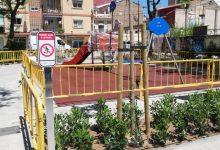 Conclou la remodelació de l'espai enjardinat de la plaça de Cabaluig al Cabanyal