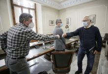 Ribó es reunix amb treballadors del Port per tractar els efectes de l'ampliació nord en l'ocupació