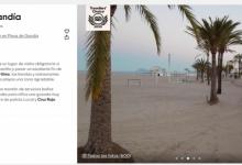 Tripadvisor atorga el premi Travellers Choice 2020 a la platja de Gandia