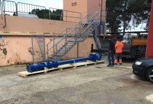Paterna instala una nueva bomba en el depósito de Táctica para mejorar el abastecimiento de agua