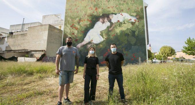 El Serpis Urban Art Project Gandia presenta el darrer mural amb l'amor com a temàtica protagonista