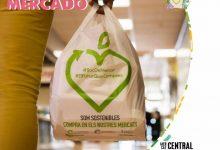El Mercat Central se suma a la campaña 'Recicla con tu mercado', con bolsas 70% reciclables y reutilizables