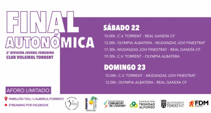 El Club Voleibol Torrent es juga l'ascens a Primera Autonòmica en el pavelló Toll i l'Alberca