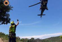 Rescatan en helicóptero a un hombre tras lesionarse la pierna en la Sierra Calderona