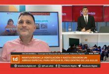 Una TV argentina toma a Ontinyent como modelo de acción para preparar las aulas para el invierno
