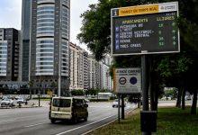 Els nous panells de trànsit de València informen de les places lliures dels aparcaments