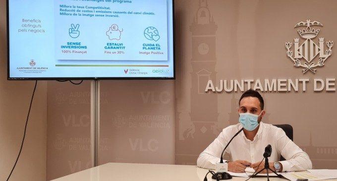 València ayuda los comercios locales para que ahorren una media de 937 euros anuales en la factura eléctrica