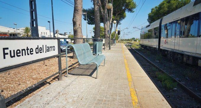 Finalitzen els projectes de la nova parada i duplicació de via en Fuente del Jarro i el punt d'encreuament de la Vallesa de Metrovalència