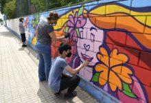 Taller de graffitti por las relaciones sanas y contra la violencia de género en Paiporta