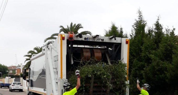 L'Ajuntament de Paterna reforçarà el servei de recollida domiciliària de poda durant l'estiu amb un camió addicional