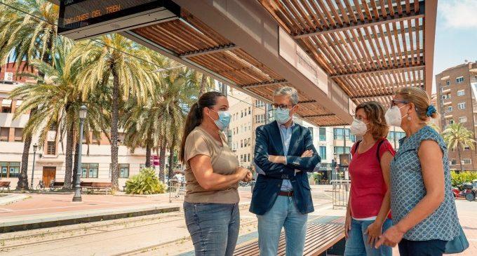 La Generalitat destina un milió d'euros a instal·lar 80 pantalles d'informació en les parades de tramvia de Metrovalencia