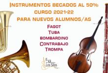 L'Escola de Música de l'Agrupació Musical Les Sitges de Burjassot obri la seua matrícula per al curs 2021-2022
