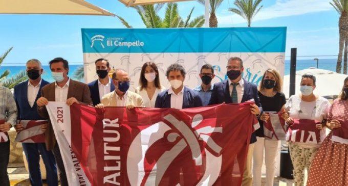 177 platges de 36 municipis de la Comunitat Valenciana onegen la bandera Qualitur aquest estiu