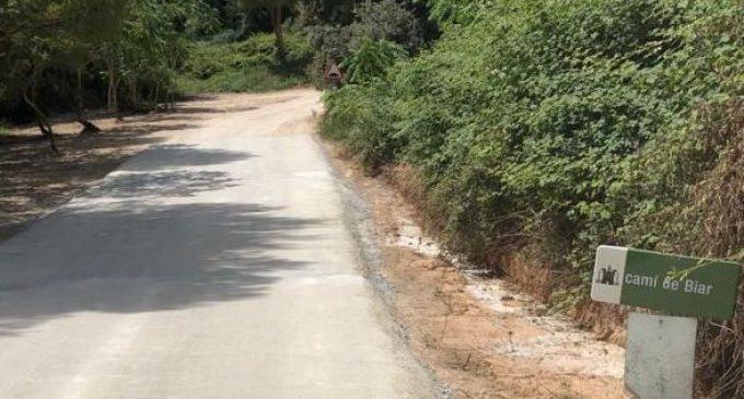 Ontinyent finalitza les obres de reparacions de camins cofinançades pel Ministeri de Política Territorial