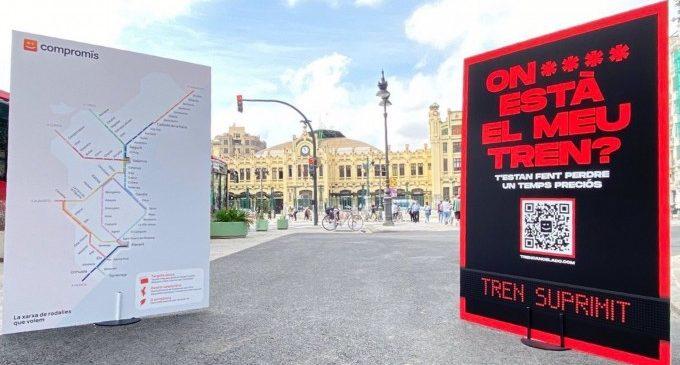"""Compromís reivindica ampliar y electrificar la red de Cercanías valenciana, que sufre """"el peor servicio del estado"""""""