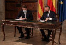 """La Generalitat y la Fundación """"La Caixa"""" firman un convenio de colaboración que contempla destinar 32,5 millones de euros al desarrollo de proyectos sociales en la Comunitat Valenciana"""