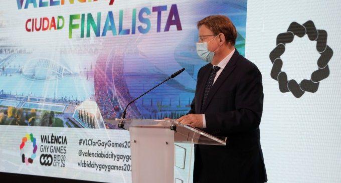 """Puig garantiza su apoyo a València como sede de los 'Gay Games 2026' y destaca que """"la medalla de la inclusión"""" es la más importante"""