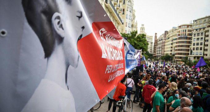 """Quatre manifestacions s'uneixen a València contra la 'Llei Mordassa' per """"injusta i repressiva"""""""