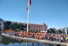 Aforament complet en la Plaça de Colón en la manifestació contra els indults als líders del