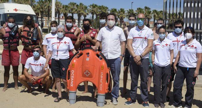 Les platges de València compten amb un dispositiu de rescat per control remot pioner a Espanya