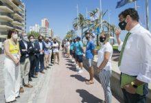 La playa de Gandia se consolida como referente en calidad, salud, seguridad y sostenibilidad con la izada de 9 banderas