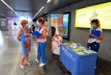 Ferrocarrils de la Generalitat col·labora amb Aldeas Infantiles i Médicos Sin Fronteras en les seues campanyes informatives en estacions de Metrovalencia