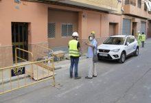 Obres de renovació de la xarxa de proveïment d'aigua potable als carrers Colón, Convent i adjacents de Paiporta