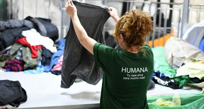 Humana recupera més de 15 tones de tèxtil usat a Almussafes al primer semestre per a donar-les una segona vida