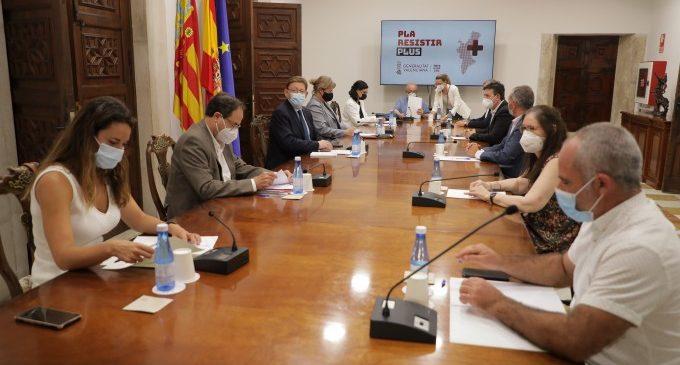 Ximo Puig anuncia una segona convocatòria d'ajudes del Pla Resistir Plus a la qual podran acollir-se empreses de tots els sectors econòmics