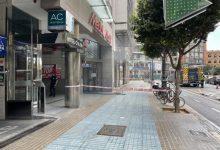 Bomberos sofocan un conato de incendio en la lavandería de un hotel de la calle Colón de València