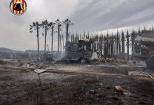 Extingit l'incendi a Polinyà del Xúquer