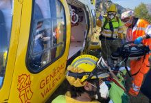 Els rescats en helicòpter augmenten un 15 % en la Comunitat en el primer semestre de 2021