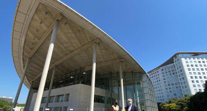 El Palau de Congressos de València estrena un espai verd de 1.400 metres quadrats