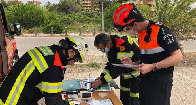 Els bombers realitzen cinc simulacres d'extinció d'incendis al Parc Natural de l'Albufera