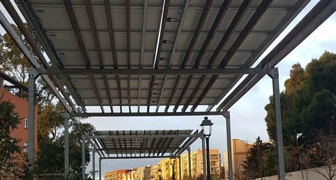 Les instal·lacions fotovoltaiques del Parc Lineal de Benimàmet estalvien un 75 % del consum energètic i quasi la meitat de la factura elèctrica