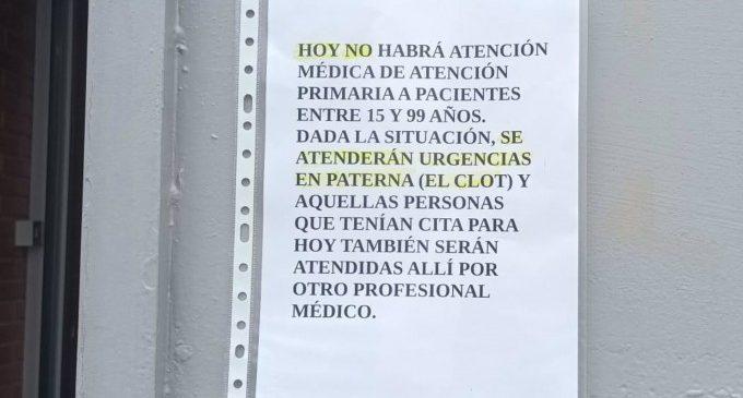 """El consultori de La Coma (Paterna) es queda sense metges de família després de demanar tots la baixa per patir """"amenaces"""""""