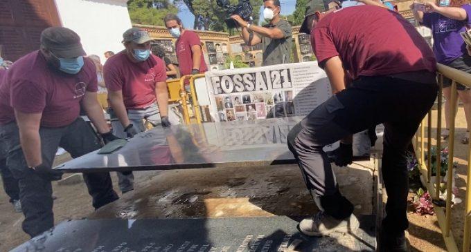 S'inicia l'exhumació de les nueve víctimes del franquisme de Quart de Poblet de la Fossa 21
