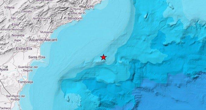 Registrat un terratrémol de 2,5 graus enfront de la costa de Santa Pola