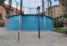 València efectua una neteja integral de l'antic Depòsit de Gas Lebón, un element del seu patrimoni industrial