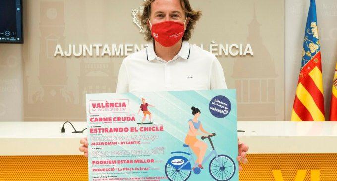 Giuseppe Grezzi presenta l'itinerari de la setmana de la mobilitat a València