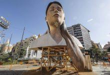 La plaça de l'Ajuntament es tanca al públic per a evitar aglomeracions en la cremà